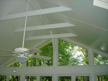 Piedmont Triad elegant screened porch ceiling