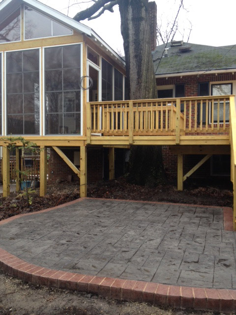 Greensboro Wooden Deck And Paver Patio Combinations